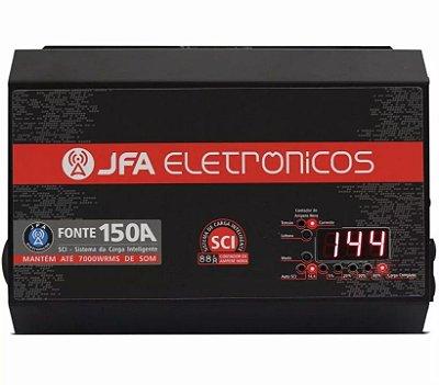 FONTE E CARREGADOR DE BATERIA 150A JFA CARREGADOR COM SISTEMA SCI
