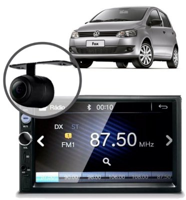 CENTRAL MULTIMÍDIA MP5 FOX 2010 CÂMERA BLUETOOTH ESPELHAMEN