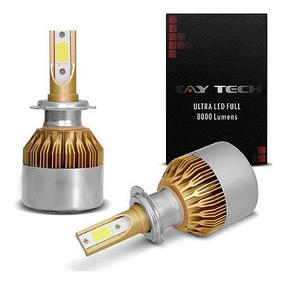 Kit Par Lâmpada Super Ultra Led Full H1 H3 H16 Hb3 H13 8000 Lúmens - Tay Tech