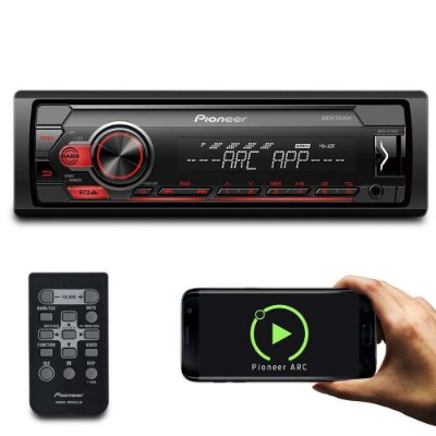MP3 Player Automotivo Pioneer MVH-S118UI Interface Android iOS Spotify Mixtrax USB Com Controle