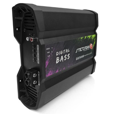Modulo Amplificador Stetsom DB3000 Bass 3000 wrms 2 Ohms Super Grave - Pré Venda