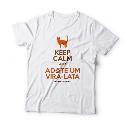 "Camiseta Masculina ""Keep Calm - Gato"""