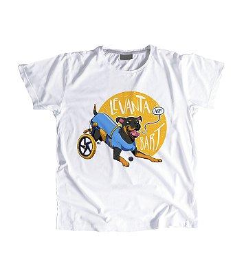 """Camiseta Feminina Baby Look """"Levanta Bart"""" Amarela"""