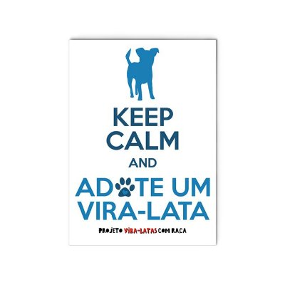 "Ímã ""Keep Calm - Cachorro"""