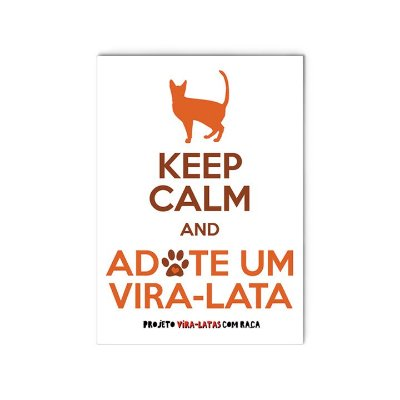 "Ímã ""Keep Calm - Gato"""