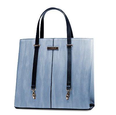Bolsa Feminina Vogue em Couro Sintético Azul Bebe VG19532