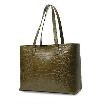 Bolsa Shopping Bag Feminina Vogue Sintético Verde Musgo
