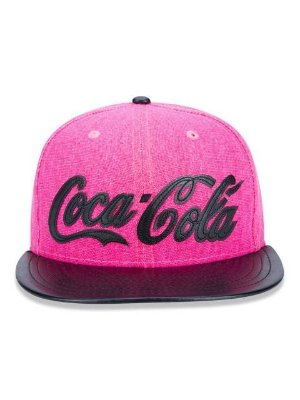 Boné New Era 9FIfTy Coca Cola Pink Aba Reta
