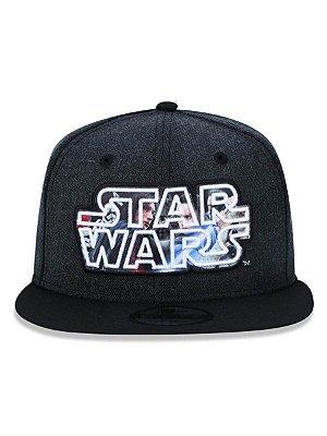 Boné New Era Star Wars 9FifTy Aba Reta Preto