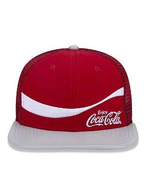 Boné New Era Coca Cola 9FifTy Vermelho Aba Reta Ajustável