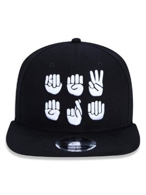 Boné New Era 9FifTy Original Lingua de Sinais Aba Reta