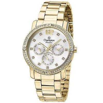 Relógio Feminino Champion Dourado com Pedras Mod:CH38397H