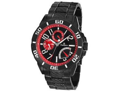 Relógio Champion Masculino Aço inoxidável Preto - CA30909P
