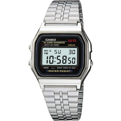 Relógio Unissex Casio Vintage Digital Em Aço A159WA-N1DF