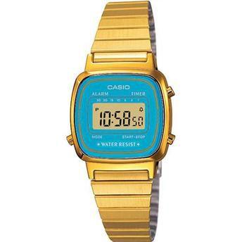 Relógio Feminino Casio Digital Vintage LA670WGA-2DF