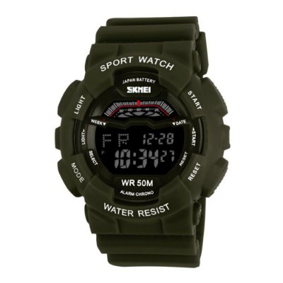 Relógio Unissex Skmei Digital Militar Esporte 1012 Verde