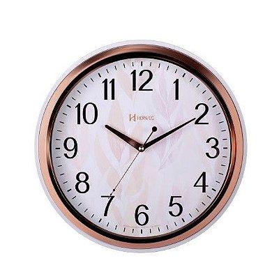 Relógio de Parede Herweg Analógico Rosa com Branco 660050309