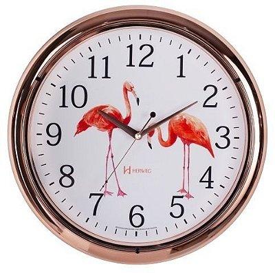 Relógio de Parede Herweg Analógico Flamingos 660047309
