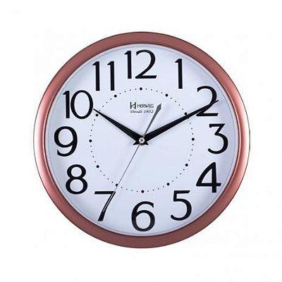 Relógio de Parede Herweg Analógico Rosa com Branco 6471309
