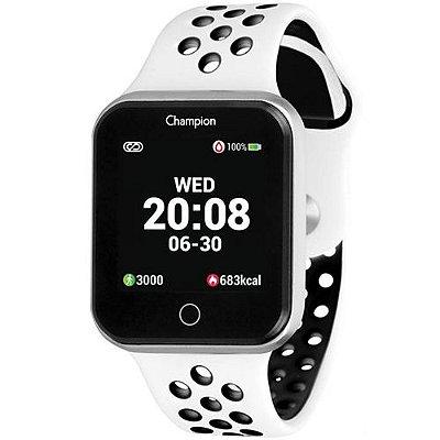 Relógio Inteligente Smartwatch Champion Unissex Prata Branco