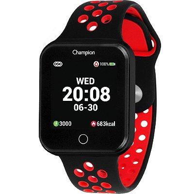 Relógio Champion Smartwatch Preto e Vermelho CH50006V