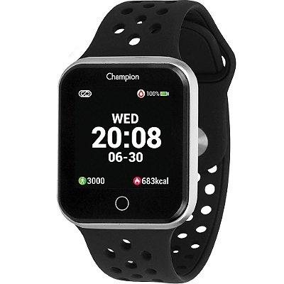 Relógio Inteligente Smartwatch Champion Unissex Prateado