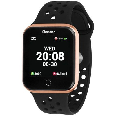 Relógio Inteligente Smartwatch Champion Unissex Preto Rose