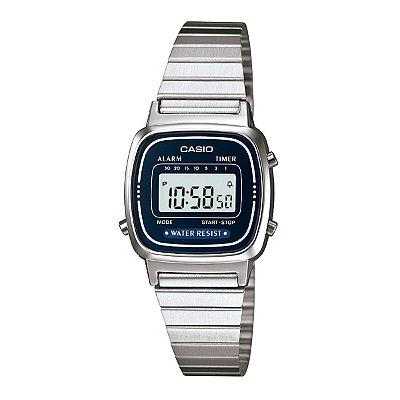 Relógio Feminino Casio Vintage Prata Pequeno LA670WA-2DF