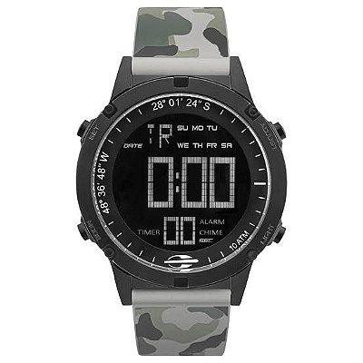 Relógio Digital Masculino Mormaii Cinza Camuflado