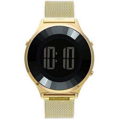 Relógio Feminino Technos Digital Dourado BJ3851AD4P
