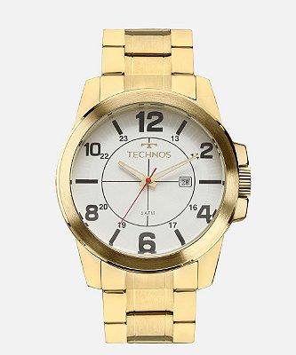 Relógio Masculino Technos Dourado com Branco 2115MGS4K