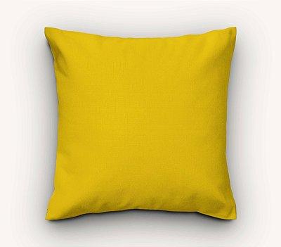 Capa de Almofada Lisa Amarelo
