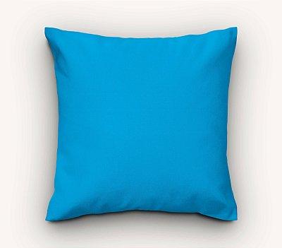 Capa de Almofada Lisa Azul