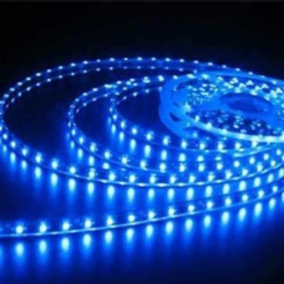 Fita De Led 5050 24v Impermeavel Para caminhao E Onibus Azul