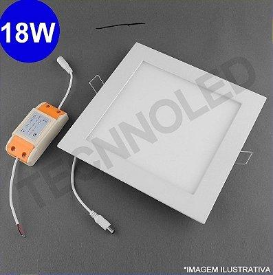 Painel Plafon Quadrado Led Slim 18w Branco Frio 6500k