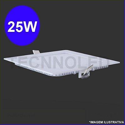 Painel Plafon Quadrado Led Slim 25w Branco Quente 3500k