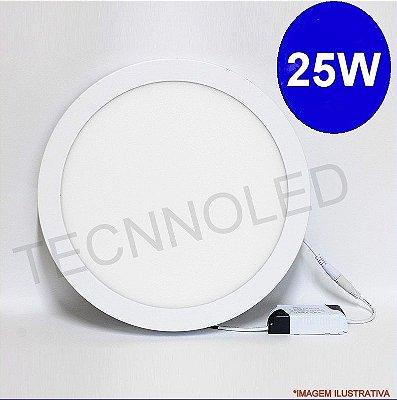 Painel Plafon Redondo Led Slim 25w Branco Frio 6500k