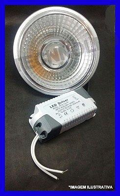 Lampada Ar111 Cob Super-led 12w Branco Quente 3000-3500k