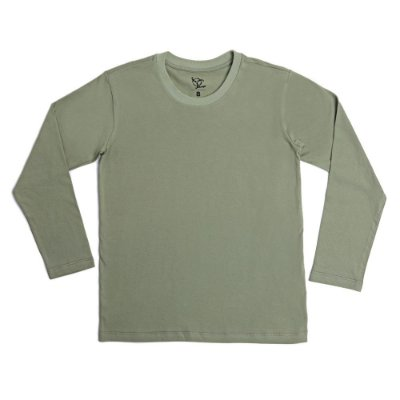 Camiseta Infantil Menino Jokenpô Básica M/L Militar