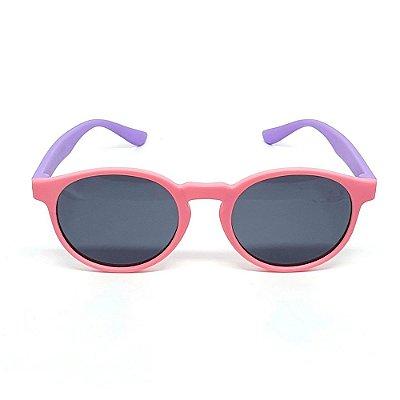 Óculos Infantil de Sol Flexível Polarizado UV400 Rosa e Roxo