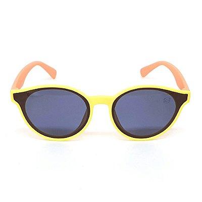 Óculos Infantil de Sol Flexível Polarizado UV400 Amarelo e Rosa