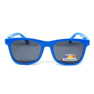 Óculos Infantil de Sol Flexível Polarizado UV400 Azul
