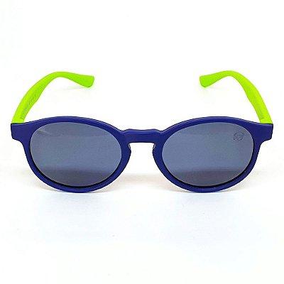 Óculos Infantil de Sol Flexível Polarizado UV400 Azul e Verde