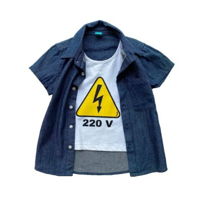 Camisa Infantil Menino Jokenpô Jeans 220v