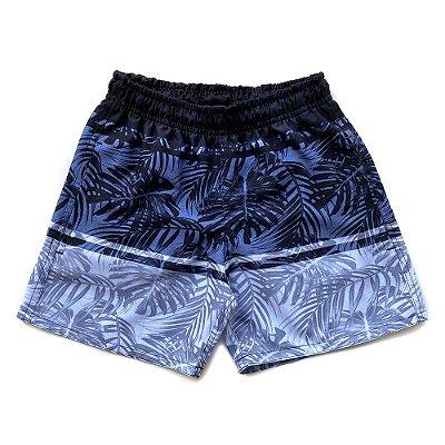 Shorts D'Água Infantil Menino Jokenpô Folhagem Preto