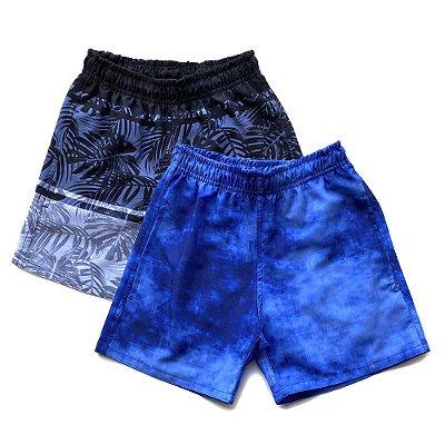 Kit 2 Shorts D'Água Infantil Menino Jokenpô - Pixel+Preto