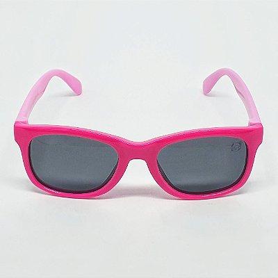 Óculos Infantil de Sol Flexível Polarizado UV400 Quadrado Roxo e Rosa