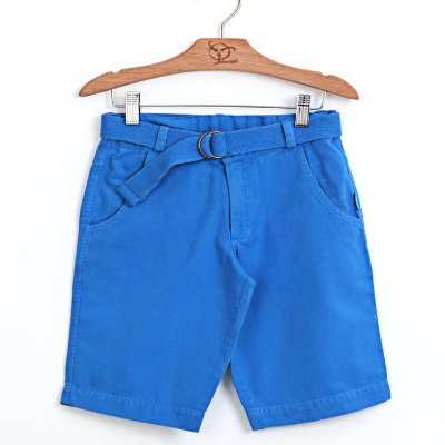 Bermuda Infantil Sarja Azul