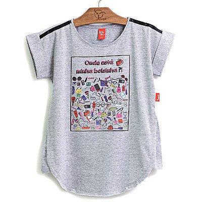 Blusa Jokenpô Infantil Bolsinhas Mescla
