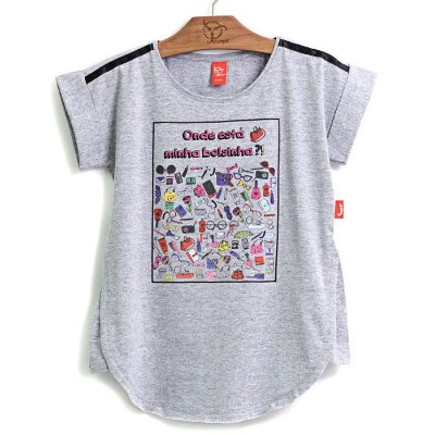 Blusa Infantil Bolsinhas Mescla